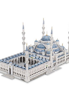 GDS-sett 3D-puslespill Puslespill Papirmodell Leketøy Kjent bygning Kirke Arkitektur 3D Unisex Deler