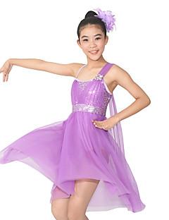 Μπαλέτο Φορέματα Γυναικεία Παιδικά Επίδοση Σπαντέξ Πολυεστέρας Με Πούλιες Κόψιμο 2 Κομμάτια Αμάνικο Φυσικό Φόρεμα Αξεσουάρ Κεφαλής