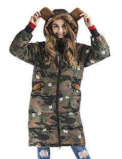 Damen Gefüttert Mantel,Lang Retro Street Schick Anspruchsvoll Ausgehen Lässig/Alltäglich camuflaje-Polyester Polyester Polypropylen