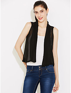 Women's Lace Casual/Daily Simple Summer Blouse,Solid Sleeveless White/Black Thin