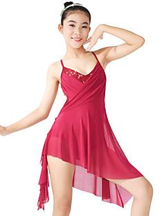 Baletti Hameet Naisten Lasten Suoritus Elastaani Polyesteri Paljettipintainen LycraReiät Laskostettu Laskostettu sivulta