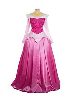 Prinsesse Eventyr Cosplay Cosplay Kostumer Maskerade Festival/høytid Halloween-kostymer Rosa Vintage Kjoler Halloween Karneval Kvinnelig