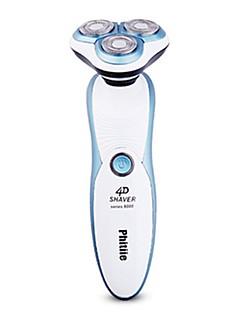 Máquinas de barbear eléctricas Homens 110V-220V Impermeável Lavável Destacável Indicador de carga 3 em 1 Design Portátil