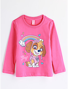 Girls' Cartoon Blouse,Cotton Fall Long Sleeve