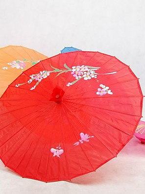 Kerti témák / Ázsiai témaSelyem-Bambusz-Napernyő(Piros)Tavasz / Nyár 48 cm magas × 82 cm átmérőjű 48 cm magas
