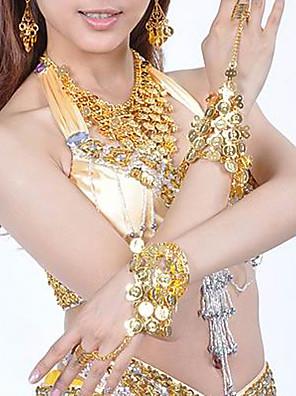 metal med mønter mavedans smykker sat flere farver