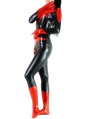 Lesklé zentai oděvy Ninja Zentai Cosplay kostýmy Černá Patchwork Leotard/Kostýmový overal / Zentai elastan Dámské Halloween / Vánoce