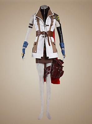 Inspirovaný Final Fantasy Lightning Video Hra Cosplay kostýmy Cosplay šaty Patchwork Biały / Hnědá Dlouhé rukávyKabát / Vrchní deska /