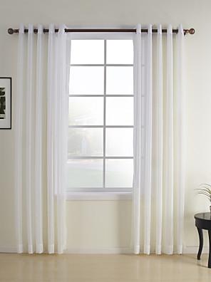 zwei Panele Window Treatment Modern , Plaid/Karomuster Schlafzimmer Polyester Stoff Gardinen Shades Haus Dekoration For Fenster