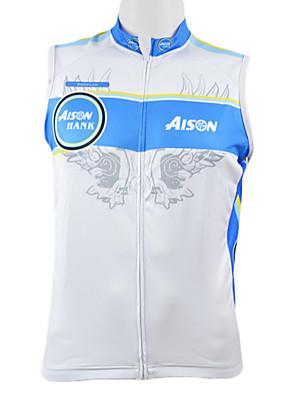 KOOPLUS® Colete para Ciclismo Homens Sem Mangas Moto Respirável / Secagem Rápida / Zíper Frontal / Vestível Colete / Blusas 100% Poliéster