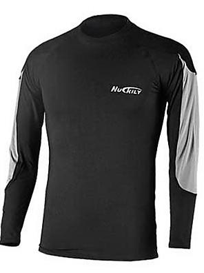 NUCKILY® שכבת בסיס לרכיבה לגברים שרוול ארוך אופניים נושם / שמור על חום הגוף / ייבוש מהיר / רוכסן קדמי / לביש תחתונים / צמרות 100% פוליאסטר