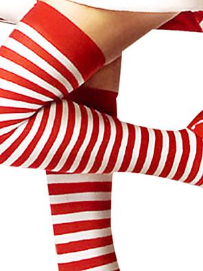 Sokken en kousen Festival/Feestdagen Halloween Kostuums Rood / Wit Kousen Kerstmis / Nieuwjaar Vrouwelijk Katoen