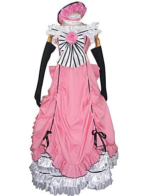 קיבל השראה מ Black Butler Ciel Phantomhive אנימה תחפושות קוספליי חליפות קוספליי / שמלות טלאים ורוד בלי שרוולים שמלה