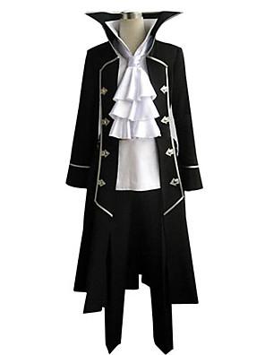 קיבל השראה מ Pandora Hearts Gilbert Nightray אנימה תחפושות קוספליי חליפות קוספליי טלאים שחור שרוולים ארוכים מעיל / חולצה / מכנסיים / עניבה