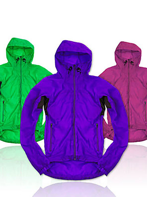 NUCKILY® ג'קט לרכיבה לנשים שרוול ארוך אופניים נושם / ייבוש מהיר / רוכסן קדמי / נגד חרקים / לביש ג'קט / צמרות 100% פוליאסטר / גיזות אחיד