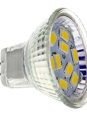 4W GU4(MR11) LED-spotlampen MR11 9 SMD 5730 430 lm Warm wit DC 12 V
