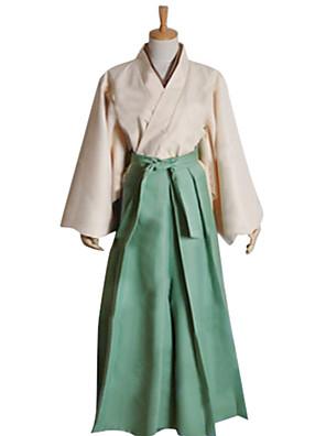 Inspirovaný Kamisama Kiss Mizuki Anime Cosplay kostýmy Cosplay šaty / Kimono Patchwork Zielony Dlouhé rukávy Kimono / Hakama kalhoty