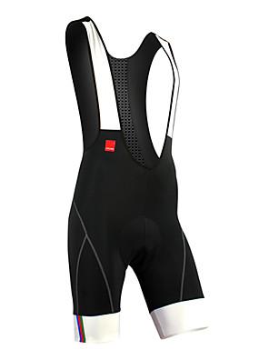 SANTIC® מכנס קצר ביב לרכיבה לגברים אופניים נושם / ייבוש מהיר / חדירות ללחות / רצועות מחזירי אור / 3D לוחמכנסיים קצרים עם כתפיות / שורטים