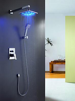 Sprinkle®샤워 수전  ,  콘템포라리  with  크롬 핸들 한개 홀 네개  ,  특색  for LED / 워터팔