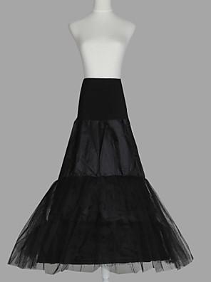 Nylon Vestido A-Line 3 Andar de comprimento Deslizamento estilo / casamento anáguas de Nível