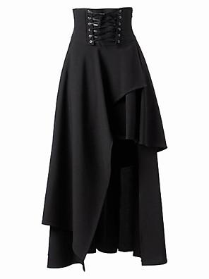 חצאית לוליטה גותי לוליטה Cosplay שמלות לוליטה Black אחיד לוליטה אורך בינוני חצאית ל נשים כותנה