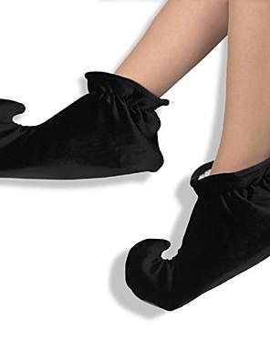 נעליים ליצן פסטיבל/חג תחפושות ליל כל הקדושים שחור אחיד נעליים האלווין (ליל כל הקדושים) יוניסקס בד אחיד