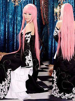 קיבל השראה מ Vocaloid Megurine Luka וִידֵאוֹ מִשְׂחָק תחפושות Cosplay חליפות קוספליי / שמלות טלאים שחור בלי שרוולים שמלה / שרוולים
