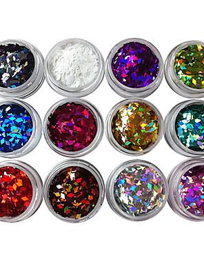 12PCS diamant-vormige Gitter Pailletten Nail Decorations