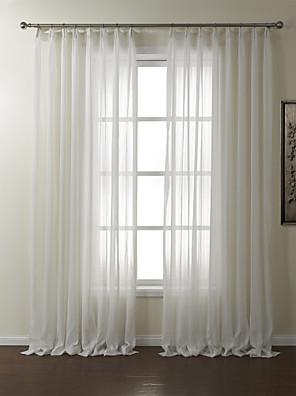 twopages® zwei Platten Streifen Polyester Jacquard transparente Vorhang