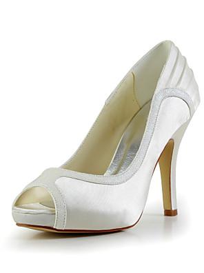 Sort / Gul / Rød / Elfenbensfarvet / Hvid / Sølv / Guld / Champagne - Dame - Bryllup Sko - Bryllup - høje hæle - Åben tå