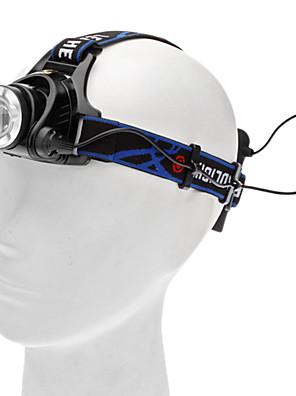 תאורה פנס LED / פנסי ראש LED 450 Lumens 3 מצב Cree XM-L T6 AA מחנאות/צעידות/טיולי מערות / שימוש יומיומי / רכיבה על אופניים / צידסגסוגת