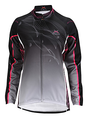 MYSENLAN® ג'קט לרכיבה לנשים שרוול ארוך אופניים שמור על חום הגוף / עמיד / בטנת פליז / לביש ג'קט / צמרות פוליאסטר / גיזות Raita סתיו / חורף