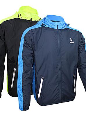 ג'קט לרכיבה לגברים שרוול ארוך אופניים שמור על חום הגוף / ייבוש מהיר / עמיד אולטרה סגול / רוכסן קדמי ג'קט 100% פוליאסטר טלאים / אחידאביב /