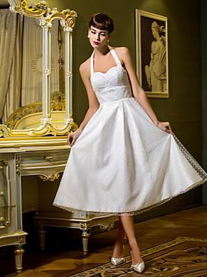lanting는 몸집이 작은 A 라인 / 공주 신부 / 플러스 웨딩 드레스 차 길이 고삐 얇은 명주 그물 크기