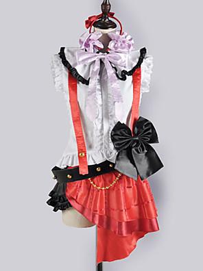 Inspirovaný Love Live Nozomi Tōjō Video Hra Cosplay Kostýmy Cosplay šaty / Školní uniformy Patchwork Biały / Czerwony Bez rukávůVrchní