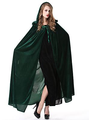 Přehoz Čaroděj/Čerodějnice Festival/Svátek Halloweenské kostýmy Zelená / Modrá Jednobarevné Přehoz Halloween / Karneval Dámské Polyester