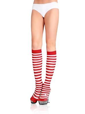 Sexy Cor Zebra Stripped joelho meias altas