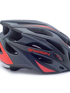 קסדה - יוניסקס - חצי צדפה - רכיבה על אופניים / רכיבה על אופני הרים / רכיבה בכביש / רכיבת פנאי (אדום / שחור , PC / EPS) 21 פתחי אוורור