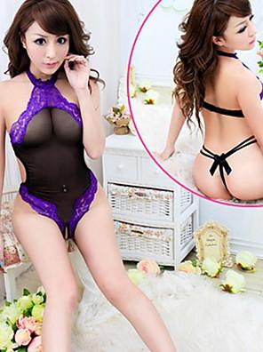 Rückenfreies Nachtwäsche Spitze-Teddybär-Bodysuit Damen Dessous Sexy Uniform