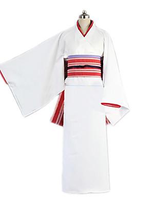 Inspirovaný Noragami Cosplay Anime Cosplay kostýmy Cosplay šaty / Kimono Jednobarevné BiałyKimono / Vlasové ozdoby / Spodní prádlo /