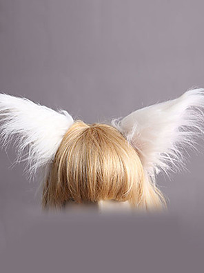 תכשיטים לוליטה מתוקה לבוש ראש נסיכות לבן לוליטה אביזרים אביזר לשיער אחיד ל נשים דמוי פרווה