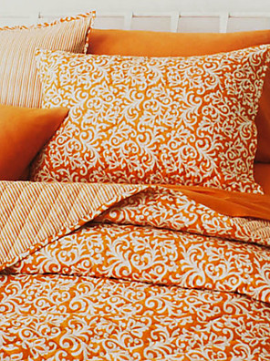huani® quilt sæt, 3 dele 100% land bomuld stil abrikos arabesk