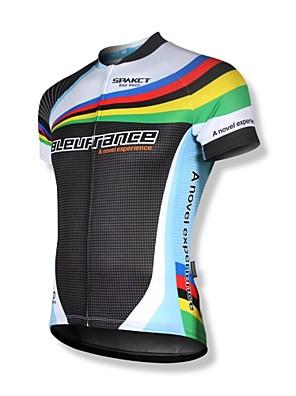 SPAKCT® חולצת ג'רסי לרכיבה לגברים שרוול קצר אופניים נושם / ייבוש מהיר / רוכסן קדמי / לביש / רוכסן YKK / רצועות מחזירי אור ג'רזי / צמרות