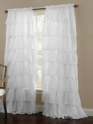 Ein Panel Window Treatment Modern , Solide Wohnzimmer Polyester Stoff Gardinen Shades Haus Dekoration For Fenster