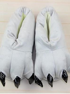 Kigurumi Pyžama Totoro / Kočka Boty / Pantofle Festival/Svátek Animal Sleepwear Halloween Šedá Jednobarevné Bavlna / Polyester Pantofle
