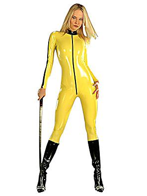 תחפושות קוספליי / תחפושת למסיבה Ninja תחפושות ליל כל הקדושים צהוב אחיד /סרבל תינוקותבגד גוף האלווין (ליל כל הקדושים) / קרנבל נקבהעור