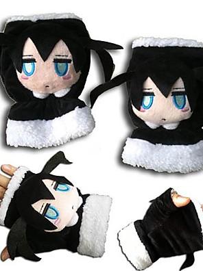 Luvas Inspirado por Vocaloid Black Rock Shooter Anime Acessórios de Cosplay Luvas Preto Malha polar Masculino / Feminino / Criança