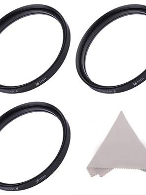 Estrela 58 milímetros filtro conjunto :4-ponto, de 6 pontos, e 8 pontos filtros estrela + pano de limpeza