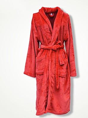 Badekåbe Rød,Solid Høj kvalitet 100% Koral Fleece Håndklæde