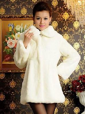 Vastag, hosszú ujjú Szabályozási Faux Fur Coat (További színek)